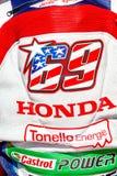 Nicky Hayden proef van Superbikes SBK Royalty-vrije Stock Foto's