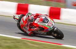 Nicky Hayden racing Royalty Free Stock Photos