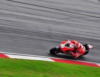 Nicky Hayden sur le généraliste de Moto Image stock