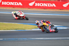 Nicky Hayden #69 of USA with Honda CBR1000RR Royalty Free Stock Images