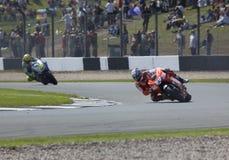 Nicky Hayden Valentino Rossi Donington MotoGP 2009 Images stock