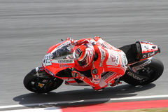 Nicky Hayden van het Team van Ducati Marlboro Stock Foto's