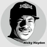 Nicky hayden vectorstijl royalty-vrije illustratie
