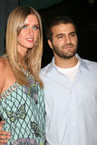 Nicky Hilton, David Katzenberg Images libres de droits