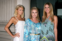 "Nicky Hilton. Paris , Kathy, and Nicky Hilton arriving at the Photographers' Gallery ""The Good Life"" exhibit curatored by Paris and Nicky Hilton in Los Angeles Royalty Free Stock Photos"