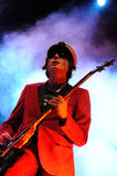 Nicky Wire, guitarist of the Welsh band Manic Street Preachers Royalty Free Stock Photography