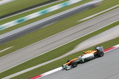 Nico Hulkenberg exits turn 15 Royalty Free Stock Photo