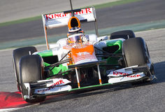 Nico Hulkenberg of Force India Royalty Free Stock Images