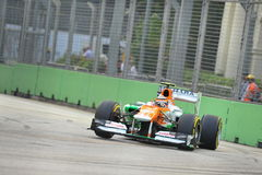 Nico Hulkenberg racing in F1 Singapore GP Royalty Free Stock Photo