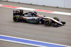 Nico Hulkenberg of Sahara Force India. Formula One. Sochi Russia Royalty Free Stock Photography