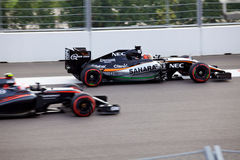 Nico Hulkenberg of Sahara Force India. Formula One. Sochi Russia Royalty Free Stock Images