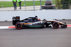 Nico Hulkenberg of Sahara Force India. Formula One. Sochi Russia Stock Photos