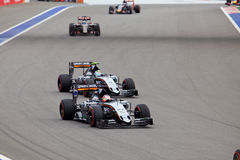 Nico Hulkenberg von Sahara Force India Formel 1 Sochi Russland Lizenzfreie Stockfotografie