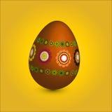 Único ovo de easter com ornamento floral Fotos de Stock