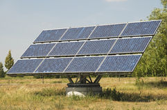Único painel solar industrial Imagem de Stock Royalty Free