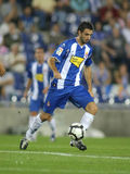 Nico Pareja in action. Argentinian player Nico Pareja of Espanyol in action during a match against Malaga CF at the Estadi Cornella-El Prat on September 24, 2009 Royalty Free Stock Images