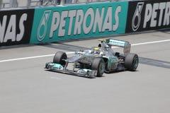 Nico Rosberg в действии стоковое фото
