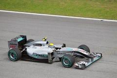 Nico Rosberg At The Malaysian F1 Stock Images