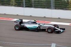 Nico Rosberg av Mercedes AMG Petronas Formel en Sochi Ryssland Royaltyfri Bild