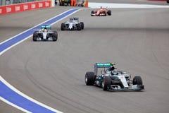 Nico Rosberg av Mercedes AMG Petronas Formel en Sochi Ryssland Royaltyfri Fotografi