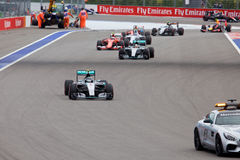 Nico Rosberg av Mercedes AMG Petronas Formel en Sochi Ryssland Royaltyfri Foto