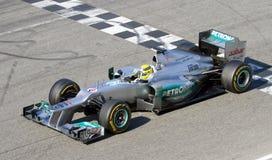 Nico Rosberg av Mercedes F1 Arkivbilder