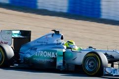 Nico Rosberg de las personas de Mercedes-AMG Fotos de archivo libres de regalías