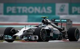 Nico Rosberg de Mercedes Photo libre de droits