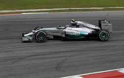 Nico Rosberg de Mercedes Images libres de droits
