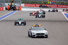 Nico Rosberg de Mercedes AMG Petronas Formule 1 Sotchi Russie Image stock