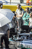 Nico Rosberg on the grid. Sochi, Russia -12 November 2014 : Formula One, Russian Grand Prix,  Sochi autodrom , 16 stage Stock Photography