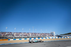 Nico Rosberg. JEREZ, SPAIN - FEBRUARY 2ND: Nico Rosberg testing his new Mercedes W06 F1 car on the first Test at the Jerez Circuit in Jerez, Andalucia, Spain on Stock Photo