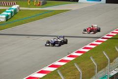 Nico Rosberg and Massa at the Malaysian formula 1 Royalty Free Stock Image