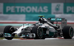 Nico Rosberg of Mercedes Royalty Free Stock Photo