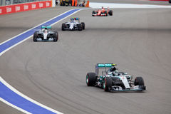 Nico Rosberg of Mercedes AMG Petronas. Formula One. Sochi Russia Royalty Free Stock Photography