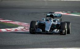 NICO ROSBERG (MERCEDES) - F1 TEST Royalty Free Stock Photos