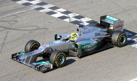 Nico Rosberg of Mercedes F1 Stock Images