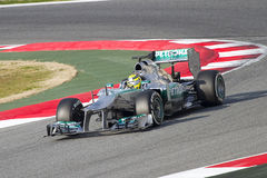 Nico Rosberg of Mercedes Royalty Free Stock Photography