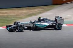 Nico Rosberg på formeln 1 Barcelona Gran Prix 2015 Arkivbilder