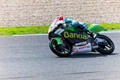 Nico Terol πειραματικό 125cc του MotoGP Στοκ φωτογραφία με δικαίωμα ελεύθερης χρήσης