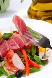 Nicoise met verse tonijn en groenten Stock Fotografie