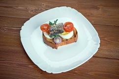Nicoise rostat bröd Royaltyfria Bilder