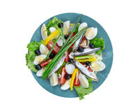 Nicoise Salad with anchovies Royalty Free Stock Photos