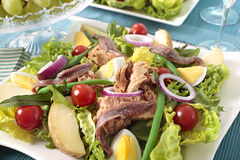 Nicoise salad Stock Photos