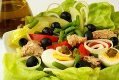 Nicoise Salat lizenzfreie stockfotos