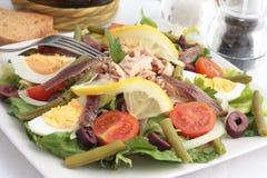 Nicoise Salat Stockfoto