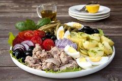 Nicoise-Salat Lizenzfreie Stockfotos