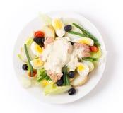 Nicoise-Salat von oben Lizenzfreie Stockbilder