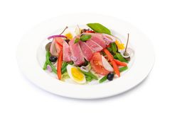 Free Nicoise With Fresh Tuna And Vegetables Royalty Free Stock Photography - 41051557