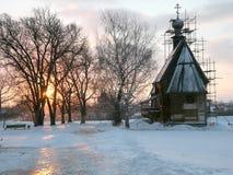 Nicol Kirche. Sonnenuntergang Lizenzfreie Stockfotos